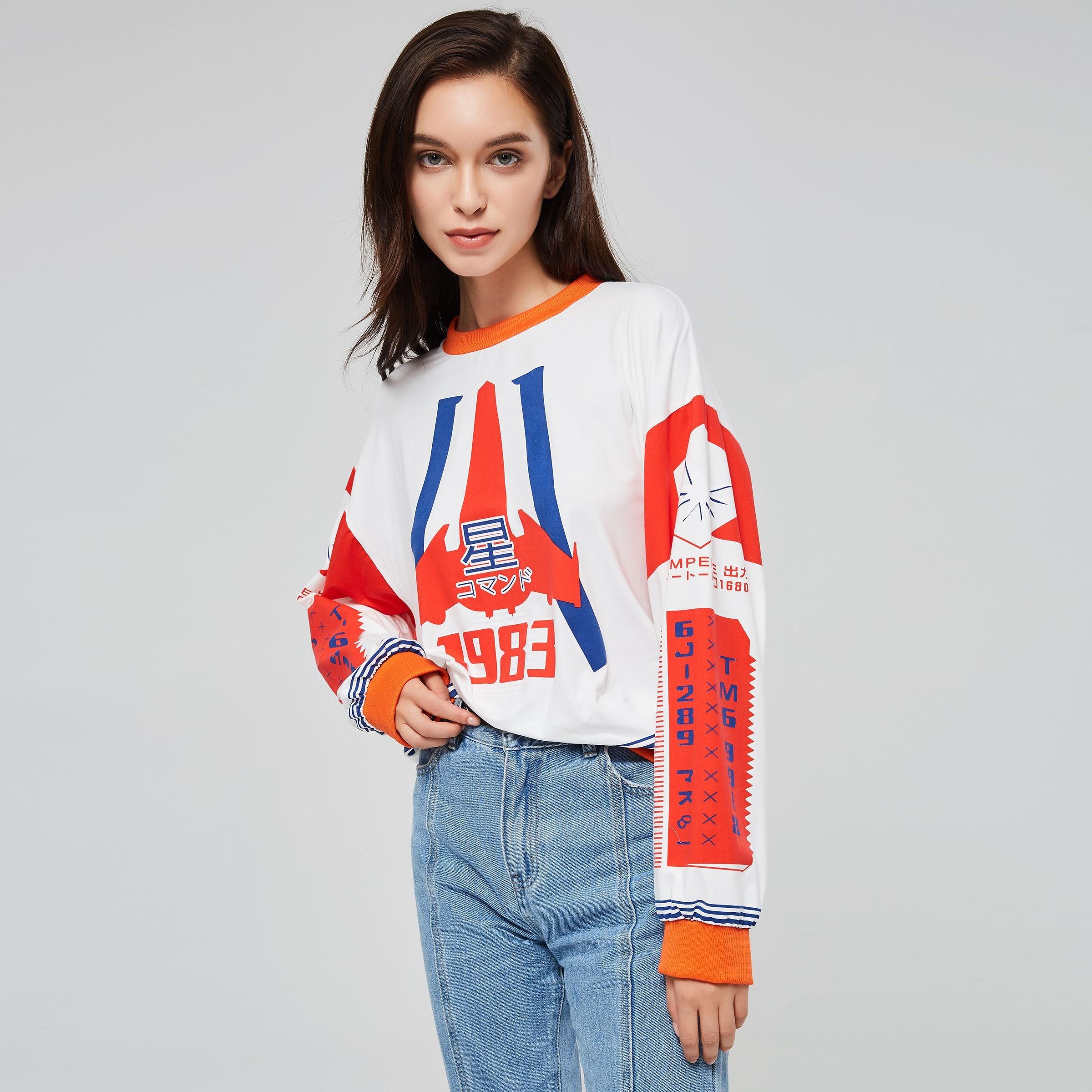 Fashion White Hoodie Sweatshirt Women Autumn 2018 Trendy New Number Red Print Young Girl Sale Streetwear Fitness Hip Hop Hoodies