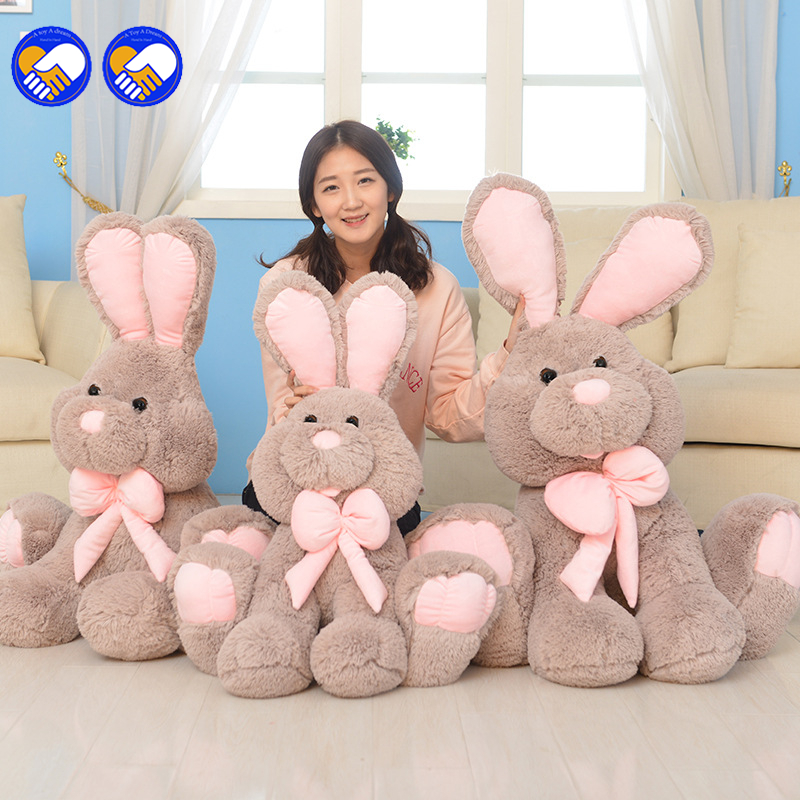 A toy A dream 1pcs 20inch Giant Bunny Plush Toy Stuffed Animal Big Rabbit Doll Gift For Girls Kids Soft Toy Cute Doll 50cm rabbit plush keychain cute simulation rabbit animal fur doll plush toy kids birthday gift doll keychain bag decorations stuffed