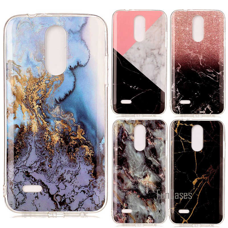 For LG K4 2017 M160 Phoenix 3 K 4 Silicone Cover Shell Marble Stone Smooth Cases Hoesje Carcasa Etui Fundas Coque Etui Capinha