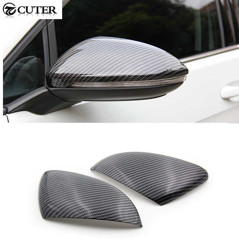 Golf 7 MK7 Carbon Fiber rear Review Mirror Cover Caps For VW Golf VII MK7 GTI R 2014UP Free shipping carbon fiber side wing mirror cover caps for volkswagen vw golf mk5 2005 2007