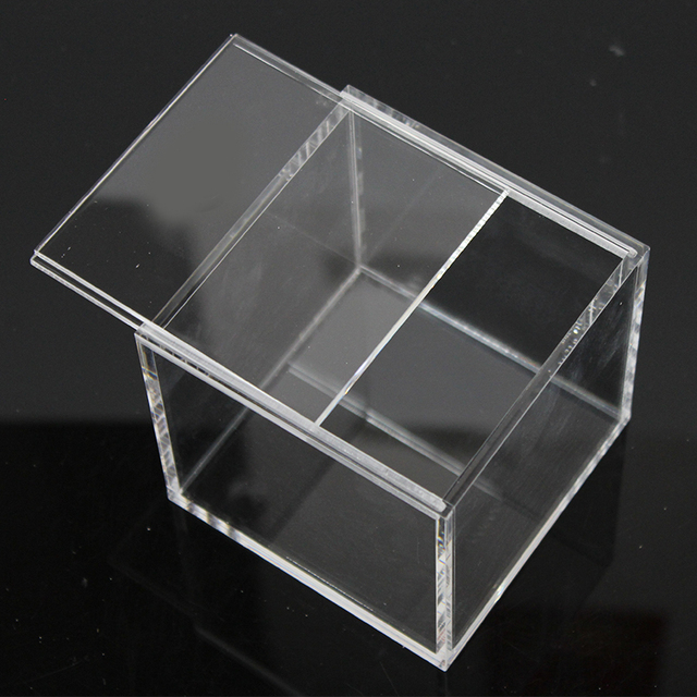 Us 26 99 5 Off 9x9x9cm Clear Acrylic Gift Box Jewelry Display Storage Box With Sliding Cover In Jewelry Packaging Display From Jewelry
