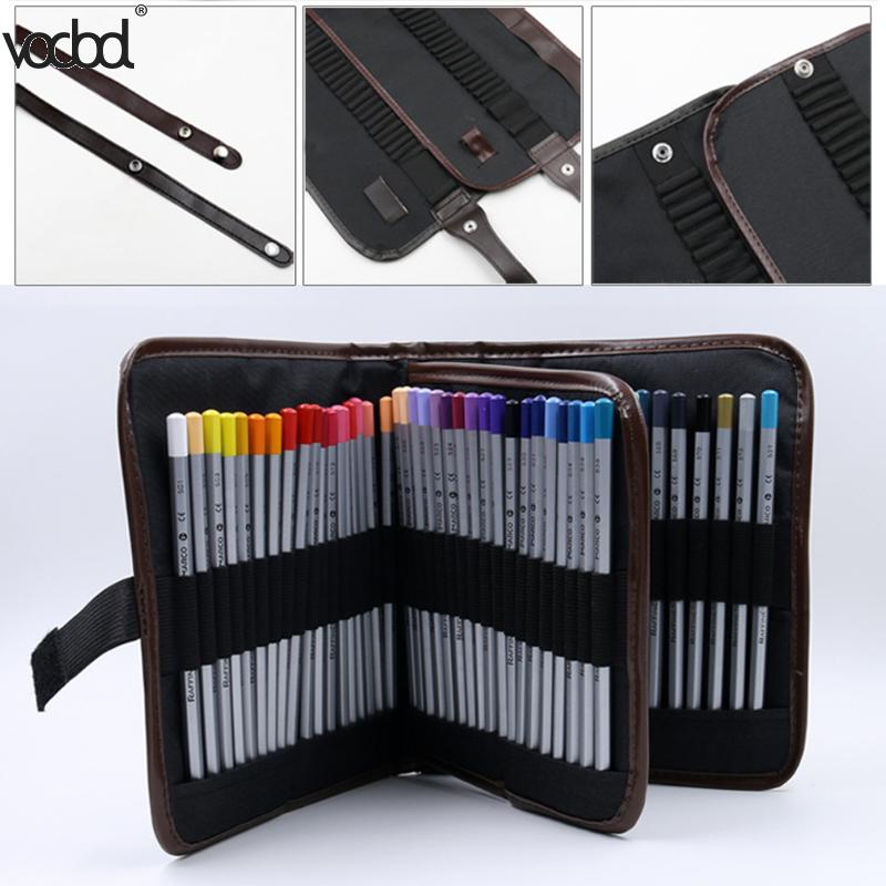 72 Holes Student Pencil Pen Bags Cosmetic Makeup Brushes Case Makeup Tool Holder Bag Storage Pouch Makeup Organizer Canvas Hot student pencil pen cosmetic makeup brushes case makeup tool holder bag storage pouch makeup organizer canvas high quality