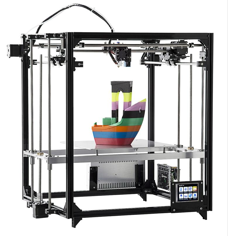 Flsun Square 3D Printer Large Printing Area 260*260*350mm 3.2 Inch Touch Screen Heated Bed Kit Auto Leveling Two Rolls Filament