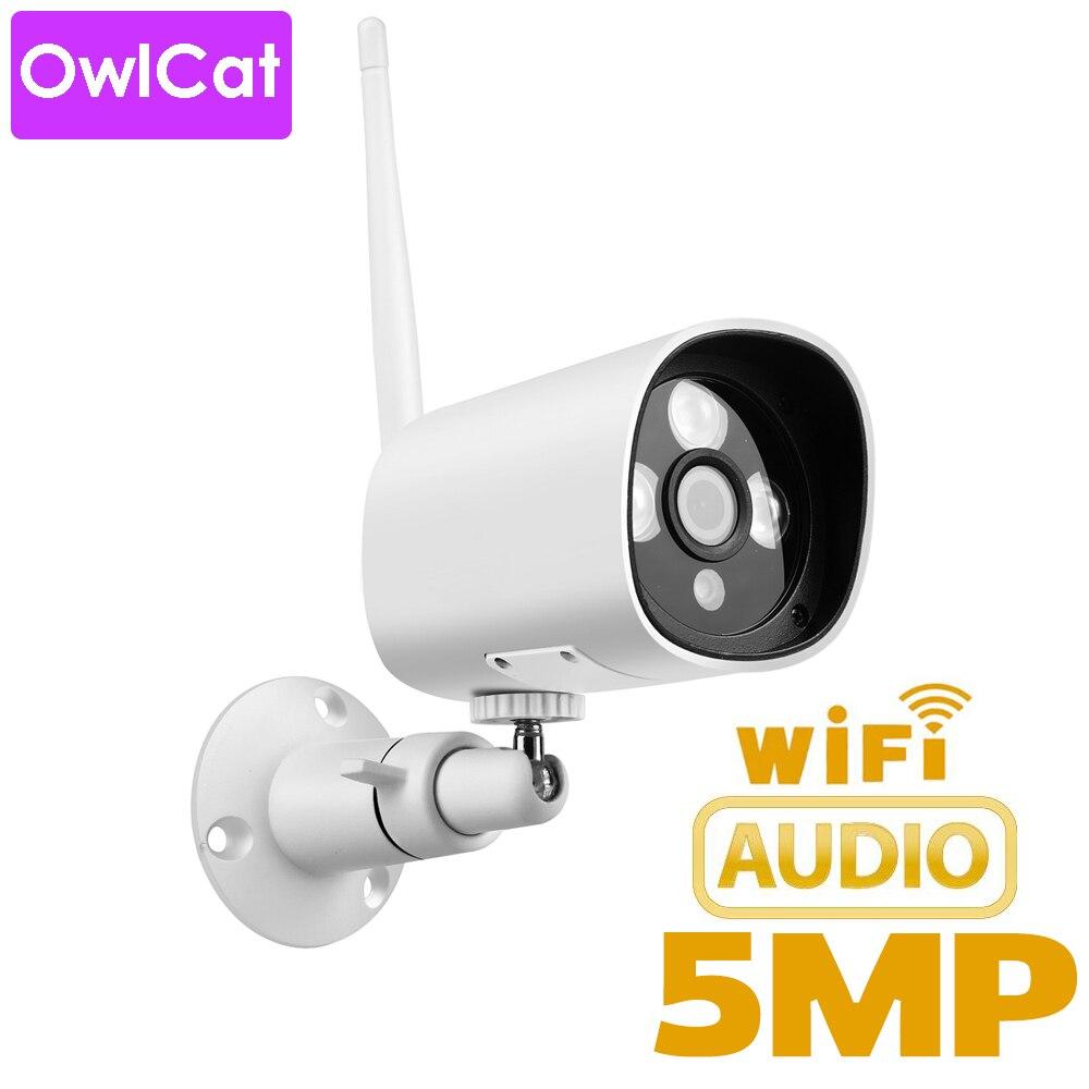 OwlCat Waterproof Outdoor Bullet IP Camera HD 2MP 5MP Surveillance Camera CCTV Microphone Audio Pickup SD