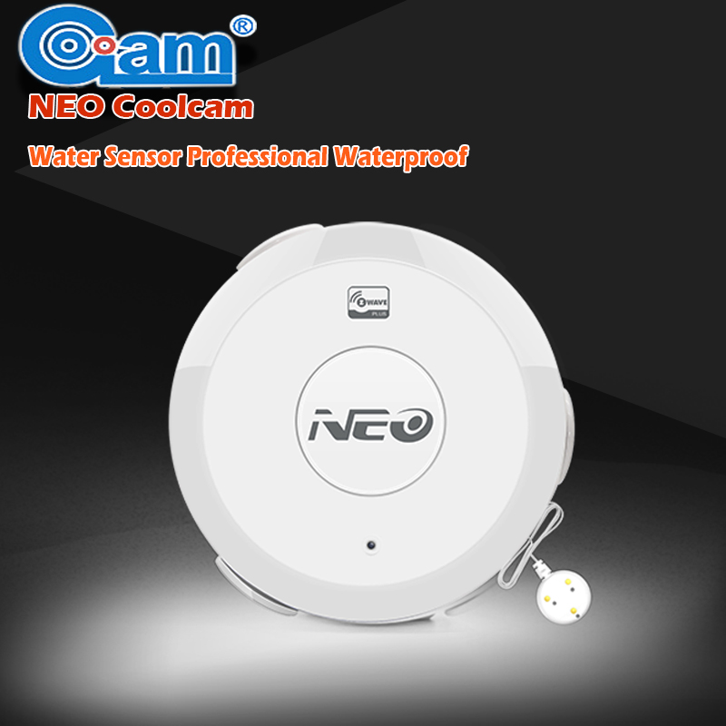 NEO COOLCAM Z wave Flood Water Leak Alarm Sensor Waterproof Sensor Z-wave Sensor Alarm Home Automation System EU/US Version neo coolcam nas pd02z new z wave pir motion sensor detector home automation alarm system motion alarm system eu us version