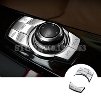 For BMW X1 E84 Inner Console iDrive Multimedia Button Cover 2010 2015 5pcs