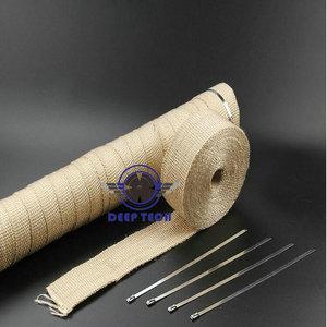 Image 3 - Бежевая выхлопная труба глушителя термостойкая выхлопная пленка 10 м x 2 дюйма с кабельные стяжки