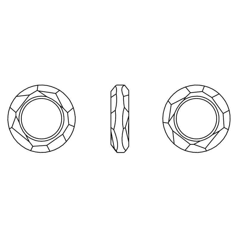 (1 stück) 100% Original kristall von Swarovski 4139 Cosmic Ring made in Österreich lose perlen Strass für DIY schmuck machen