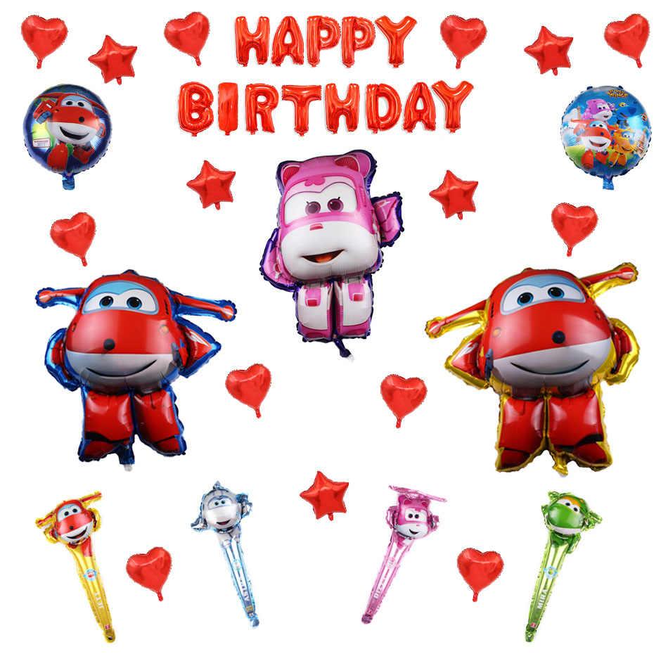 Super Asas Decorações da Festa de Aniversário Balão Da Folha Balão Balão de Hélio fontes do partido Meninos Decorações Do Chuveiro de Bebê para Crianças