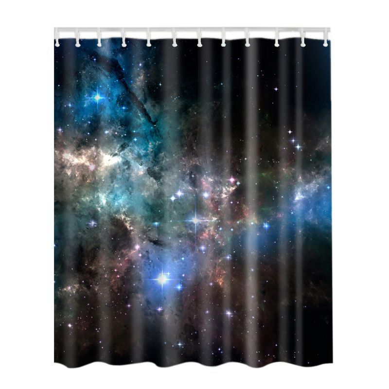Modern Bathroom Shower Curtains With Hooks World Map/ Paris Eiffel Tower  /Starry / Octopus