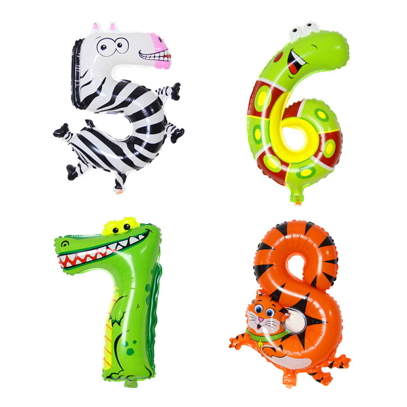 16 inch 0-9 figures universal adornment to decorate a party animal children happ