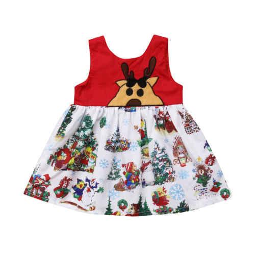 08ece7c0f1a39 Cute Kids Baby Girl Floral Princess Dress Vestidos Xmas Costume Toddler  Girls Christmas Tutu Party Wedding Dresses Sundress