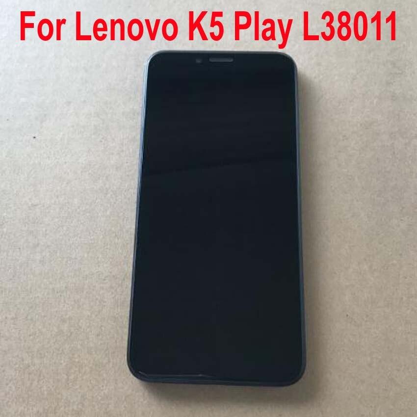 Test Original de travail plein écran LCD écran tactile numériseur assemblée capteur avec cadre pour Lenovo K5 Play K5Play L38011