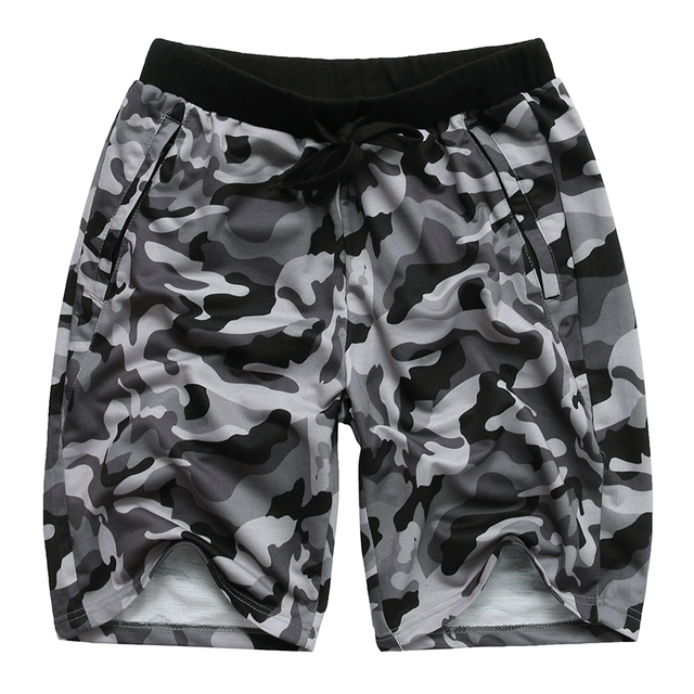 Camouflage Men's Shorts Loose Calf Length Sweatpants  4