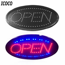 ICOCO LED Open Sign Advertising Light Board Shopping Mall Bright Animated Motion Neon Business Store Billboard with US EU Plug(China)