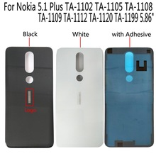 Shyueda 100% New For Nokia 5.1 Plus TA 1102 TA 1105 TA 1108 TA 1109 TA 1112 TA 1120 1199 Glass Rear Back Housing Battery Cover-in Mobile Phone Housings & Frames from Cellphones & Telecommunications on AliExpress