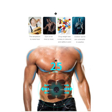 New arrival EMS Muscle Stimulator ABS Abdominal Muscle Toner Body Fitness Shaping Massage Patch Sliming Trainer Exerciser Unisex