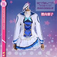 Love Live Sunshine!! Aqours OP2 All Member Mari Chika Riko Ruby Kanan Dia Watanabe Yoshiko Cosplay Costume Women Dress Costume