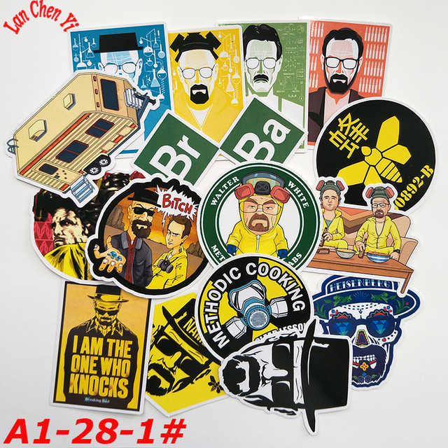A1-28# Breaking Bad 16/pcs Stickers Various shapes Creative design Doodle Stickers