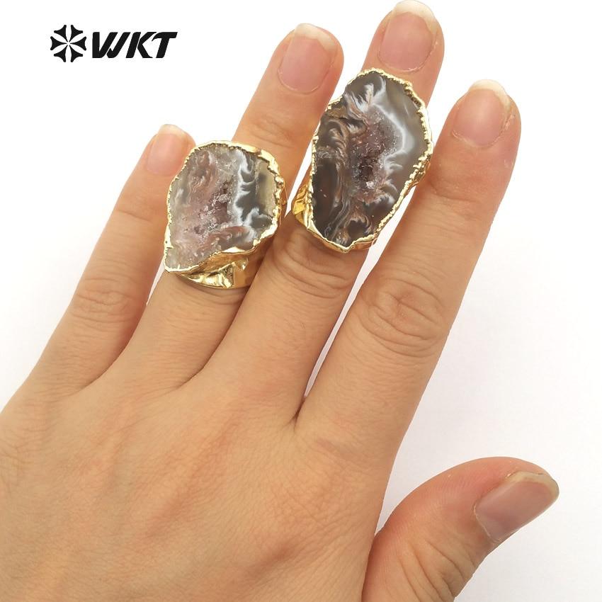 WT-R112 Exklusive Damenmode Slice Geode A Gate Ringe Erstaunliches - Modeschmuck - Foto 5