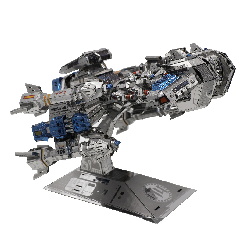 MU Star craft Terran Battle cruise 3D Metal Puzzle DIY 3D Assemble Model Building Kits Laser