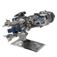 MU Star craft Terran Battle cruise 3D Metal Puzzle DIY 3D Assemble Model Building Kits Laser Cut Jigsaw Toys YM M015
