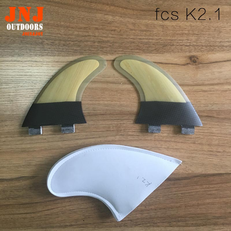 आधा कार्बन मधुकोश मानक FCS K2.1 पंख सर्फ़िंग फ़ाइनिंग फ़ाइन