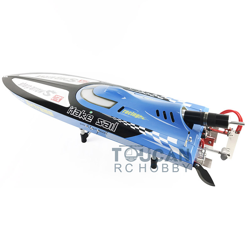 G30C ARTR Fiberglass RC Racing Boat 30CC Engine Water Cooling Sys Exhaust' Sys Blue cnc aluminum water cooling jacket for 29cc zenoah engine rc boat