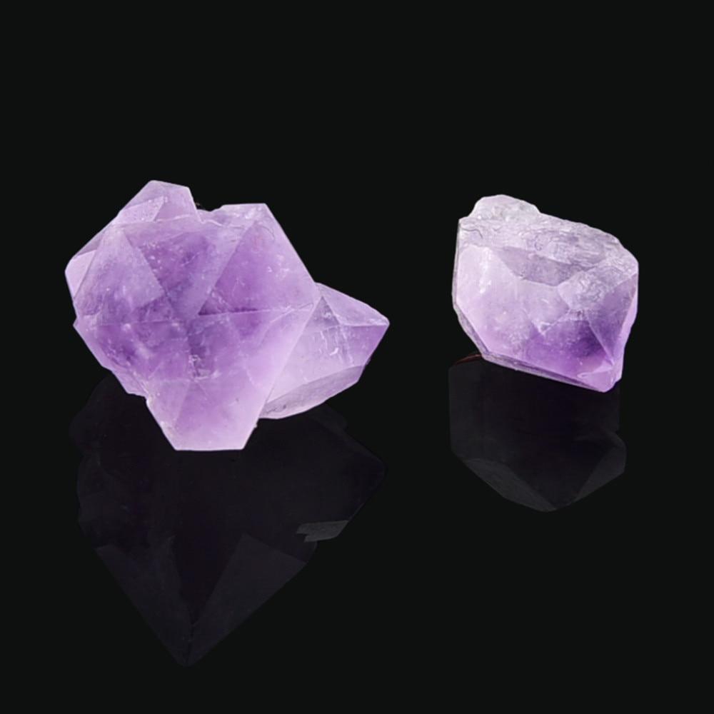 Gifts Gem Purple Wand Quartz Hexagonal Crystal Stone Natural Fluorite Healing