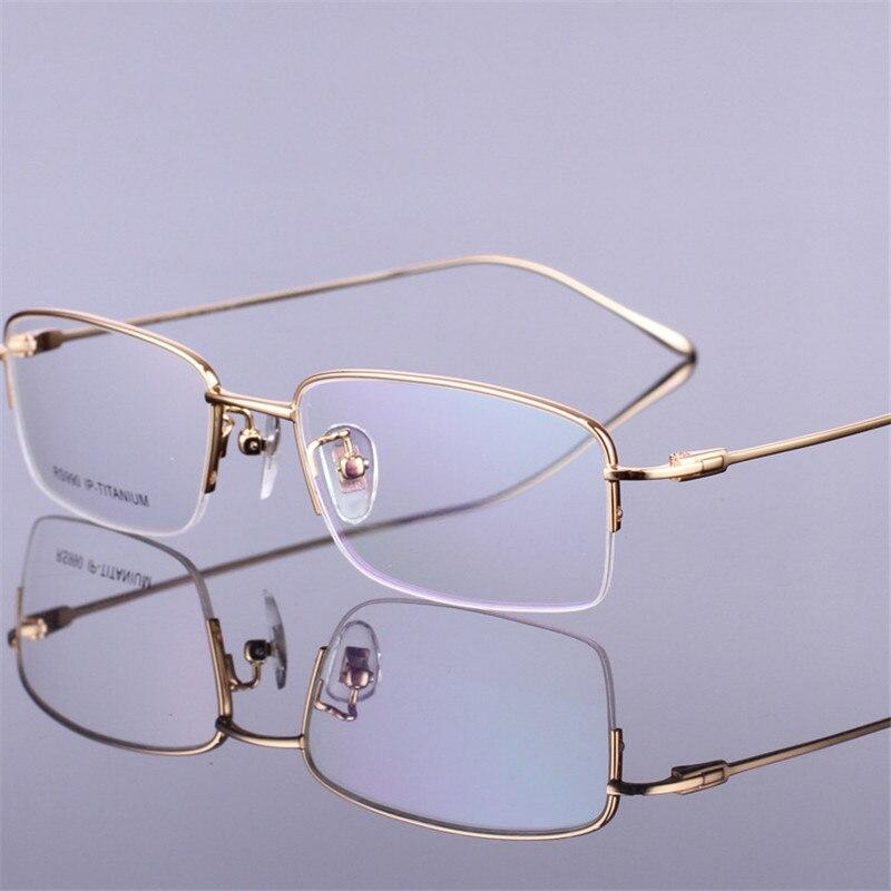 f61b1223b178f Vazrobe Marca De Titânio Óculos Homens Prescrição Miopia Presbiopia Eyewear  com Opção de Ouro do Homem