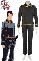 Free Shipping Gintama Silver Soul Shinsengumi Uniform Anime Cosplay Costume