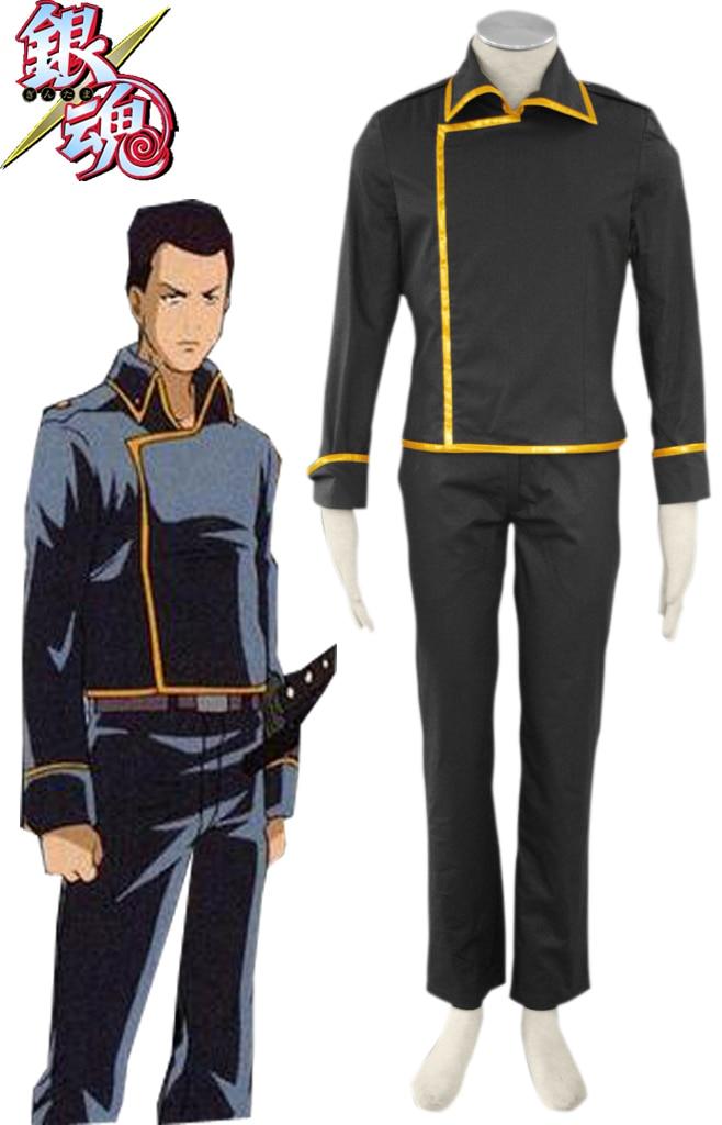 Livraison gratuite Gintama argent âme Shinsengumi uniforme Anime Cosplay Costume