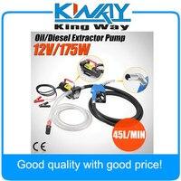 12V DC Electric Fuel Transfer Pump Diesel Kerosene Oil Commercial Auto Portable