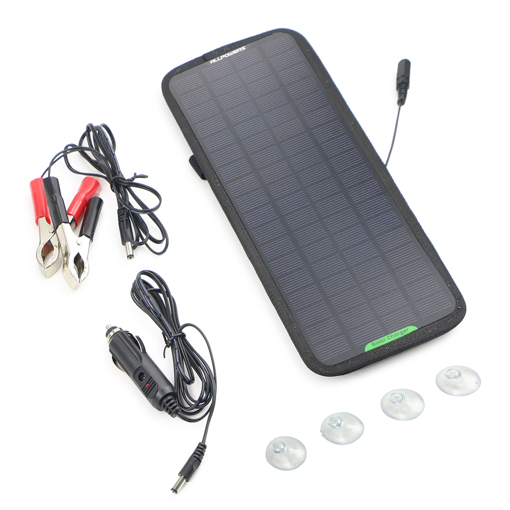Solar Panel Car Charger 12V 18V Solar Car Battery Maintainer Charger for 12V Battery of Car Auto Motorcycle Tractor Boat.