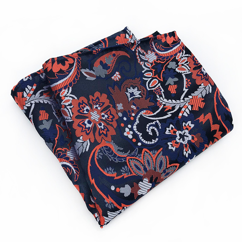 Fashion New High Quality Polyester Silk Material Paisley Suit Pocket Towel Business Men's Dress Accessories Handkerchief