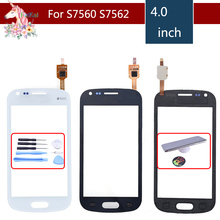 For Samsung Galaxy Trend S7560 S Duos S7562 GT-S7562 7562 7560 Touch Screen Digitizer Sensor Front Glass Lens Replacement все цены