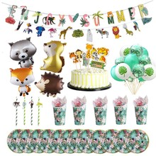 Jungle Party Decorations Safari Animal Birthday Kids Summer Luau Tropical Hawaiian