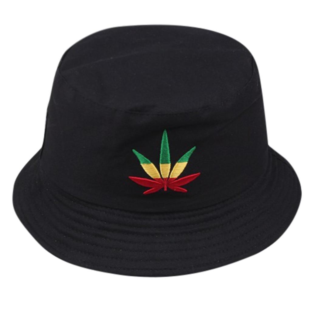Bucket-Hat Panama-Hats Swag Embroidery Fisherman Bob Hip-Hop Outdoor Cotton Women Summer