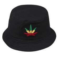 Мужская и женская шляпа-ведро с листьями в стиле хип-хоп, рыбак, Панама, шапки с вышивкой, хлопок, для улицы, летняя, повседневная, Swag Bob, козырек, Панама, шапки# L5