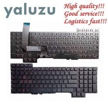 Teclado YALUZU US para Asus G751J G751JL G751JM G751JT G751JY teclado Inglés para ordenador portátil, letras rojas de EE. UU.