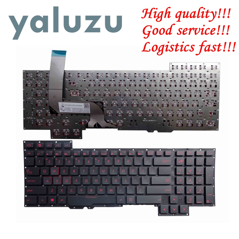 YALUZU US Keyboard for Asus G751J G751JL G751JM G751JT G751JY English Laptop Keyboard US RED Letter-in Replacement Keyboards from Computer & Office on