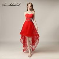 2018 Fashion Asymmetrical Homecoming Dresses Sweetheart Short Formal Prom Graduation Dress Little Ruffles Party Gown AJ014