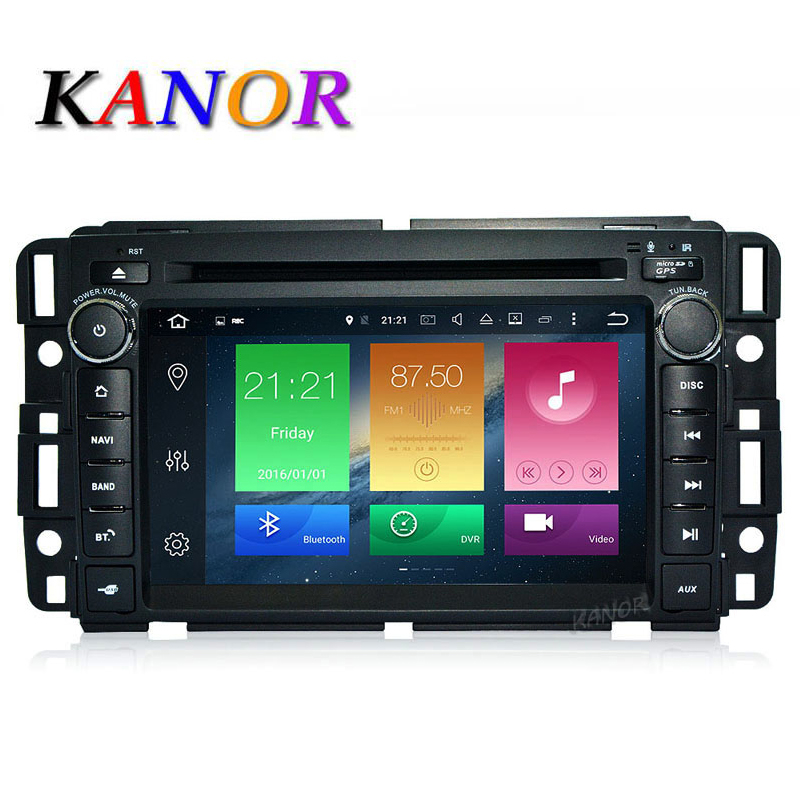 Kanor Android 8.0 32 г Octa core 4 г 2 DIN автомобильный DVD видео плеер для GMC Yukon savana Сьерра tahoe Acadia Молотки h2 с навигатор