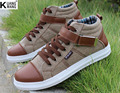 Otoño de Corea casual zapatos zapatos de lona de Mezclilla de moda Juvenil de los hombres Británicos respirables de los hombres planos