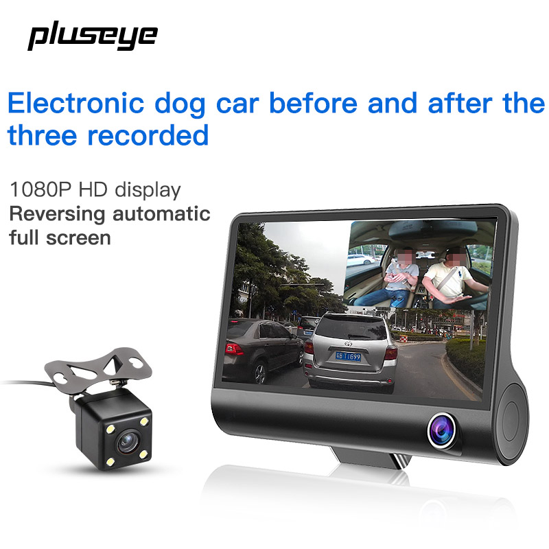 HD Car DVR 1080P Car Camera Recorder Dash Cam G-sensor Video Registrator 3 Lens Camcorder WDR Night Vision Auto DVRs Tachograph full hd 1080p car dvr video camera on cam dash camera car camcorder 2 4inch g sensor dash cam recorder night vision