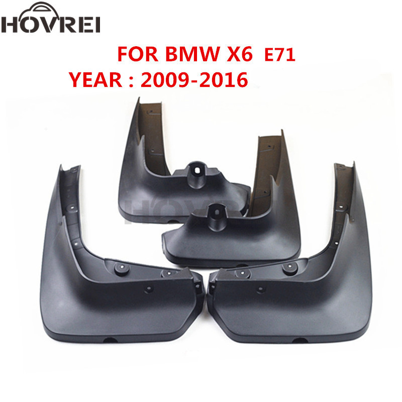 car Splash Guards Mud Flaps for BMW X6 E71 2008 2016 Mudguards Mudflaps Fenders 2009 2010