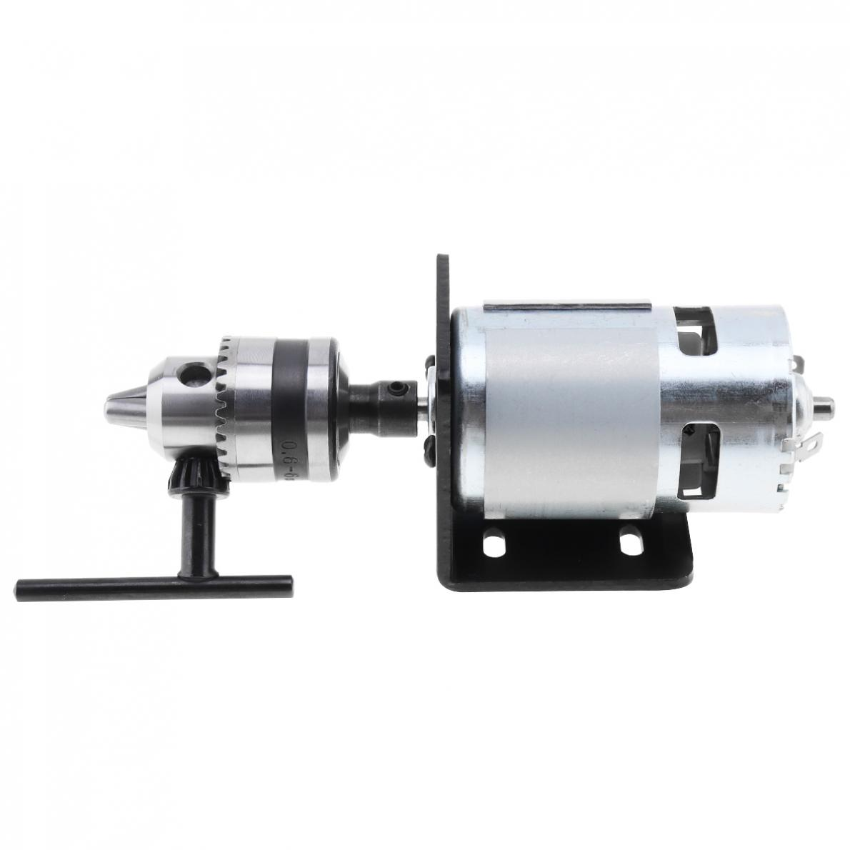 1set 12-24V 775 Lathe Press Motor With B10 Drill Chuck And Mounting Bracket