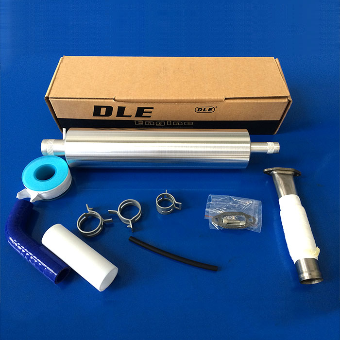 Special Muffler Canister Set With Smoke for DLE35RA 35cc gas engines Free shipping