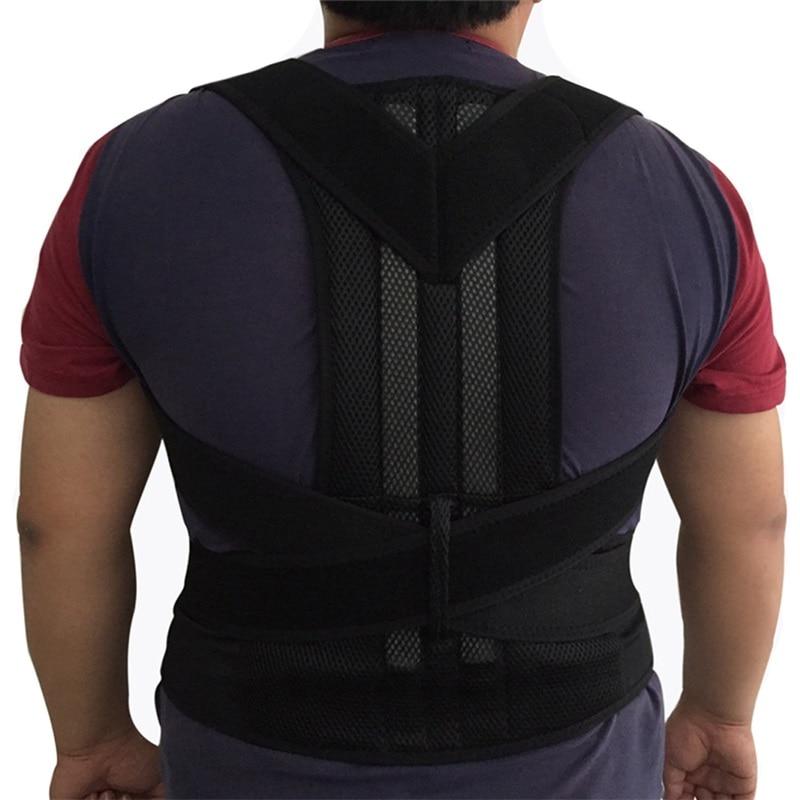 Mens Support Belt Back Brace Support Men Back Straightener Round Shoulder Posture Corrector Orthopedic Posture Corset Back