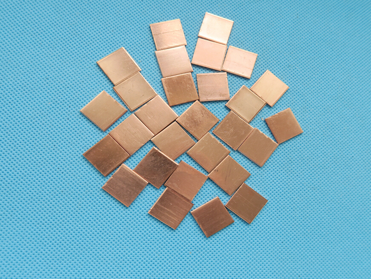 5PCS 15*15*1mm 15x15x1mm Copper Heatsink thermal Pad for Laptop GPU CPU Radiating Copper Heat Sink Cooling Accessories image